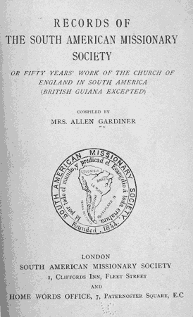 Fifty years' work of the Church of England in South America
